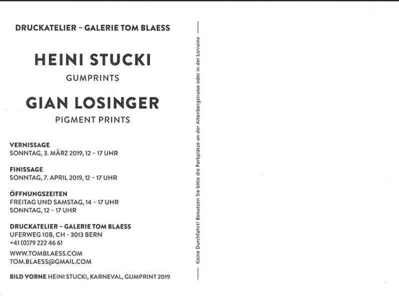 Ausstellung Heini Stucki GUMPRINTS